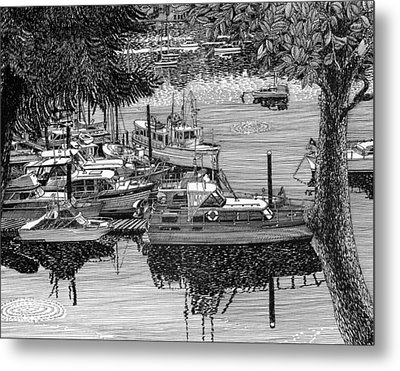 Port Orchard Yacht Club Cruise To Vashon Island Metal Print by Jack Pumphrey