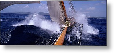 Yacht Race, Caribbean Metal Print by Panoramic Images