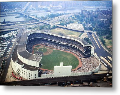 Yankee Stadium Aerial Metal Print by Retro Images Archive