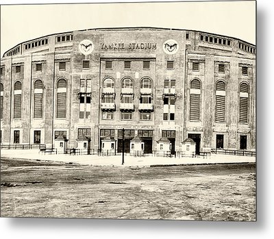 Yankee Stadium Metal Print by Bill Cannon