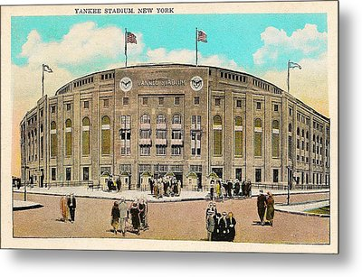 Yankee Stadium Postcard Metal Print by Digital Reproductions