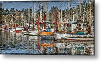 Yaquina Bay Fishing Boats Metal Print by Thom Zehrfeld