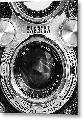 Yashica 635 - Front Detail Metal Print by Jon Woodhams