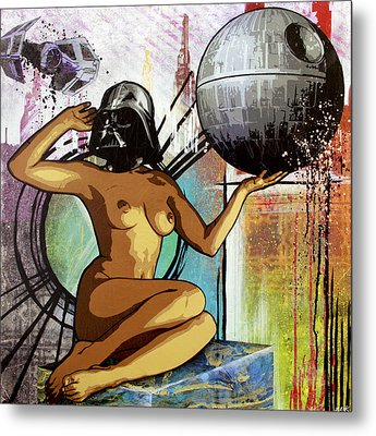 Yeah I Think I'll Just Join The Dark Side Metal Print by Bobby Zeik