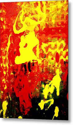 Yellow And Red Metal Print by Patricia Motley