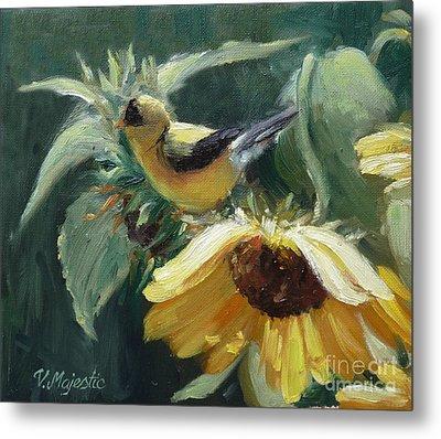 Yellow Bird - Hooded Oriole Metal Print by Viktoria K Majestic