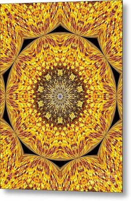 Yellow Burst  Metal Print by Annette Allman