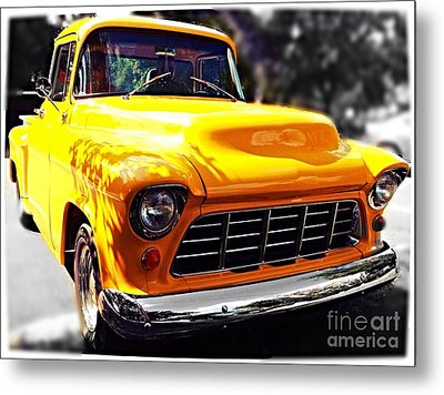 Yellow Chevy Metal Print by Garren Zanker