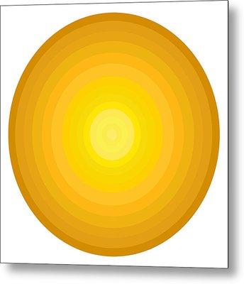 Yellow Circles Metal Print by Frank Tschakert