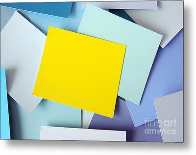 Yellow Memo Metal Print by Carlos Caetano