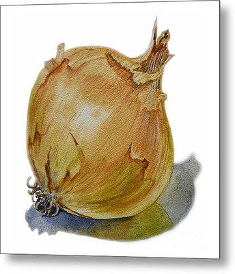 Yellow Onion Metal Print by Irina Sztukowski