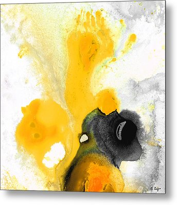 Yellow Orange Abstract Art - The Dreamer - By Sharon Cummings Metal Print by Sharon Cummings