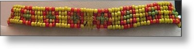 Yellow Orange Red And Green Bracelet Metal Print by Kimberly Johnson