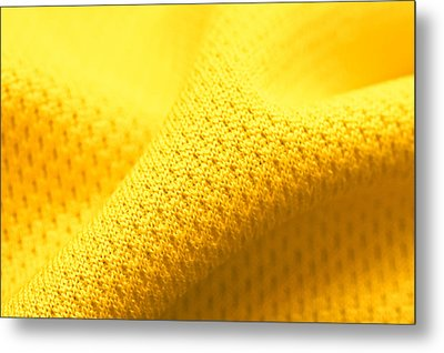 Yellow Polyester Metal Print by Tom Gowanlock