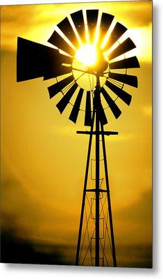 Yellow Wind Metal Print by Jerry McElroy