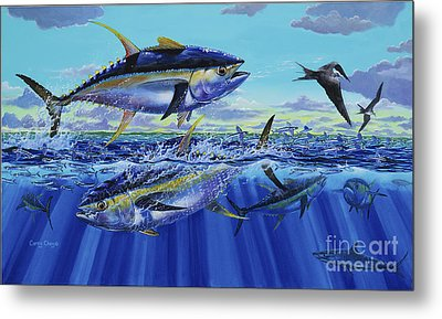 Yellowfin Bust Off0083 Metal Print by Carey Chen
