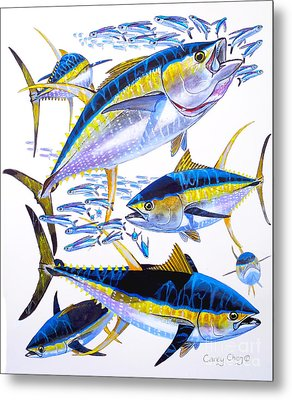 Yellowfin Run Metal Print by Carey Chen