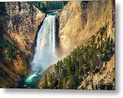 Yellowstone Lower Waterfalls Metal Print by Robert Bales