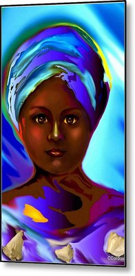 Yemaya -the Mother Goddess Metal Print by Carmen Cordova