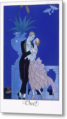 Yes Metal Print by Georges Barbier