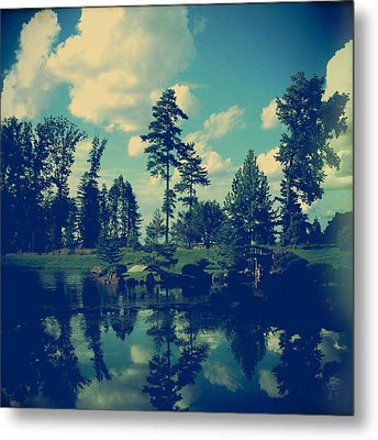 Yesterday Evening At The Lake Metal Print by Joy StClaire