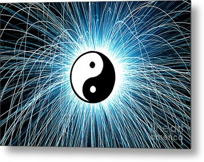 Yin Yang Metal Print by Tim Gainey