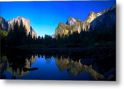 Yosemite Reflections Metal Print by Bill Caldwell -        ABeautifulSky Photography