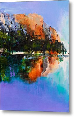Yosemite Valley Metal Print by Elise Palmigiani
