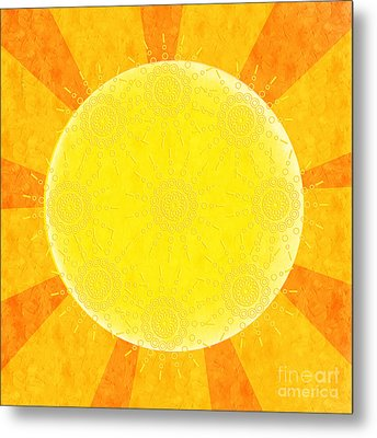 You Are The Sunshine Of My Life Metal Print by Andee Design