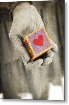 You Hold My Heart In Your Hand Metal Print by Edward Fielding