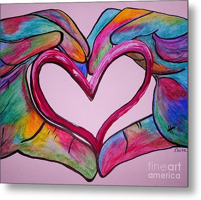 You Hold My Heart In Your Hands Metal Print by Eloise Schneider