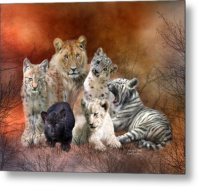 Young And Wild Metal Print by Carol Cavalaris