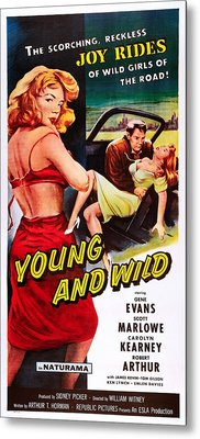 Young And Wild, Left Carolyn Kearney Metal Print by Everett