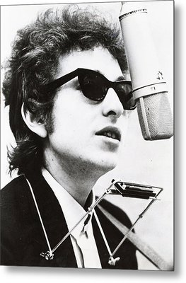 Young Bob Dylan Metal Print by Retro Images Archive