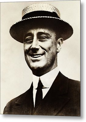 Young Franklin  Roosevelt Metal Print by Bill Cannon