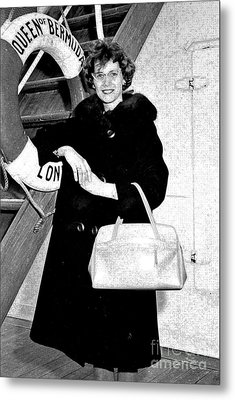 Young Lady On First Cruise Metal Print by Allan  Hughes