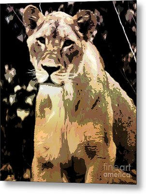 Young Lion Metal Print by Kathleen Struckle