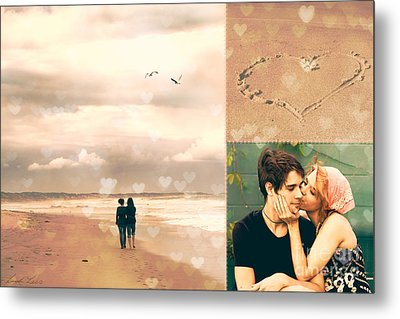 Young Love Metal Print by Linda Lees