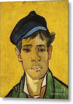 Young Man With A Hat Metal Print by Vincent Van Gogh