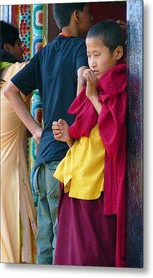 Young Tibetan Monk Metal Print by Dagmar Batyahav