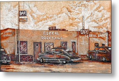 Young's Corral - Holbrook Az - Route 66 - The Mother Road Metal Print by Christine Till