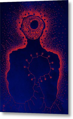 Your Aura During The Night Metal Print by Paul Petroniu