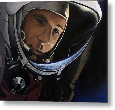 Yuri Alekseyevich Gagarin Metal Print by Simon Kregar