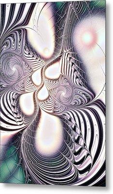 Zebra Phantasm Metal Print by Anastasiya Malakhova