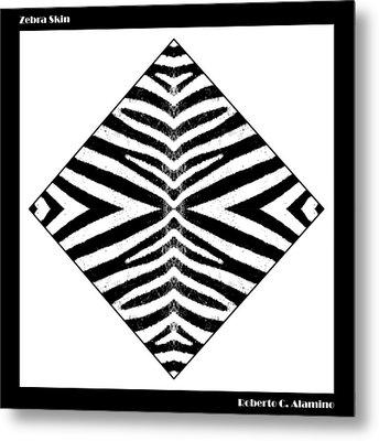 Zebra Skin Metal Print by Roberto Alamino