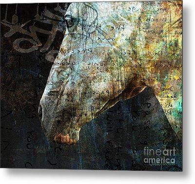 Zeniah Variation 8 Metal Print by Judy Wood