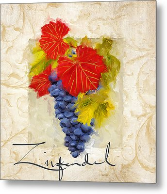 Zinfandel Metal Print by Lourry Legarde