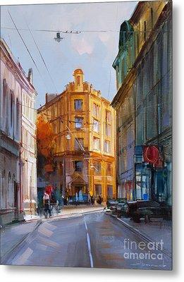 Zlatoustinskiy Alley.  Metal Print by Alexey Shalaev