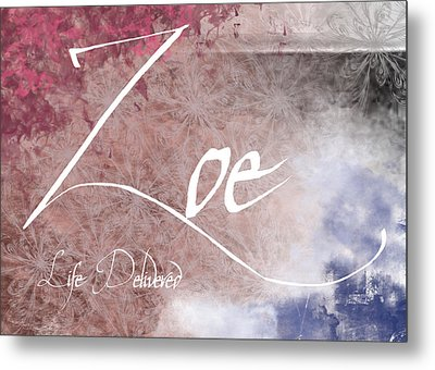 Zoe - Life Delivered Metal Print by Christopher Gaston