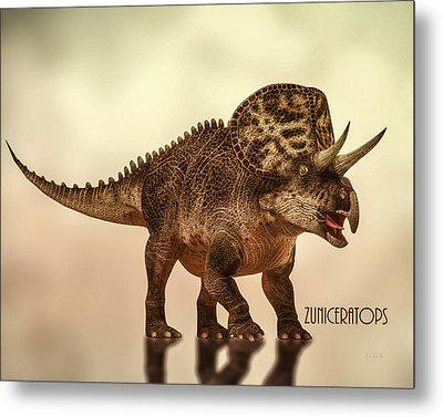 Zuniceratops Dinosaur Metal Print by Bob Orsillo